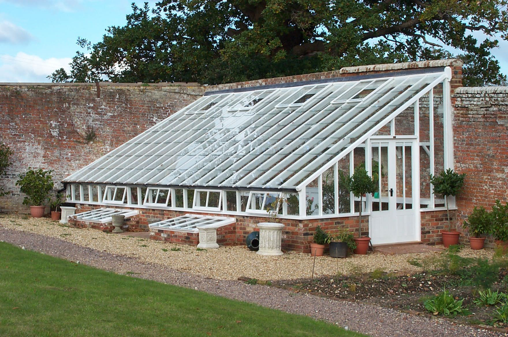 Lean to victorian greenhouse gallery